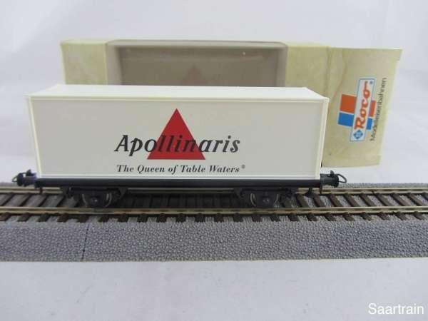 Basis ROCO Containerwagen mit Beschriftung Apolinaris mit Verpackung