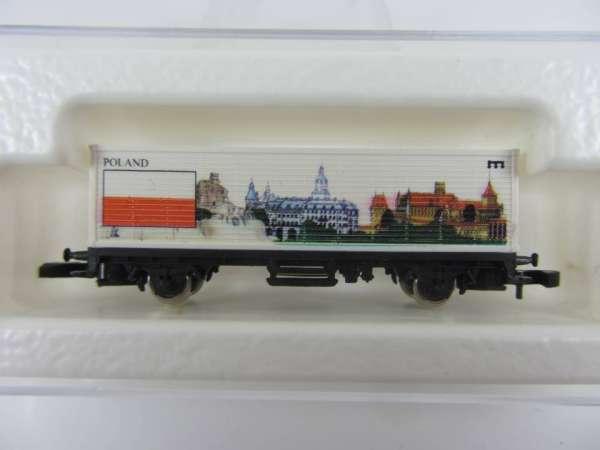 Märklin 8615 Containerwagen Polen USA-Flaggenserie mit Verpackung