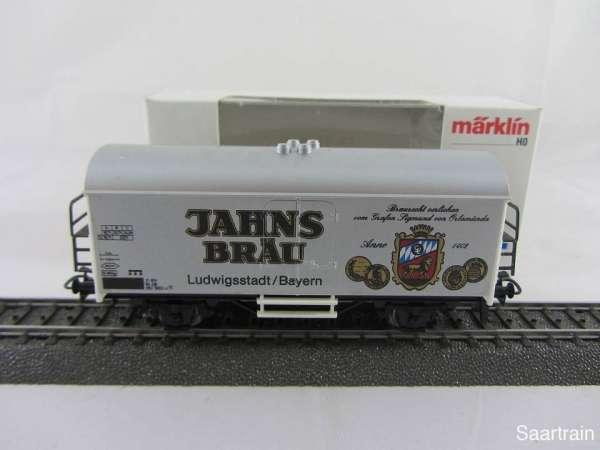 Märklin Basis 4415 Bierwagen Jahns Bräu Bayern silbern Sondermodell mit OVP