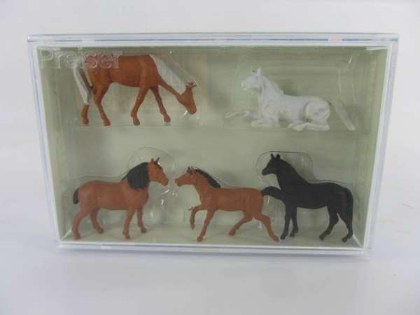 Preiser HO 14150 1:87 Pferde neu mit OVP