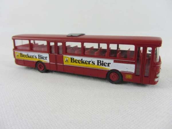 Industriedruck 1:87 Setra 140 Bus rot Becker Bier