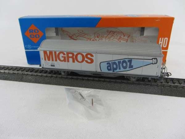 ROCO 4340 B SBB Habis MIGROS Aproz, AC-Achsen, sehr guter Zustand mit OVP
