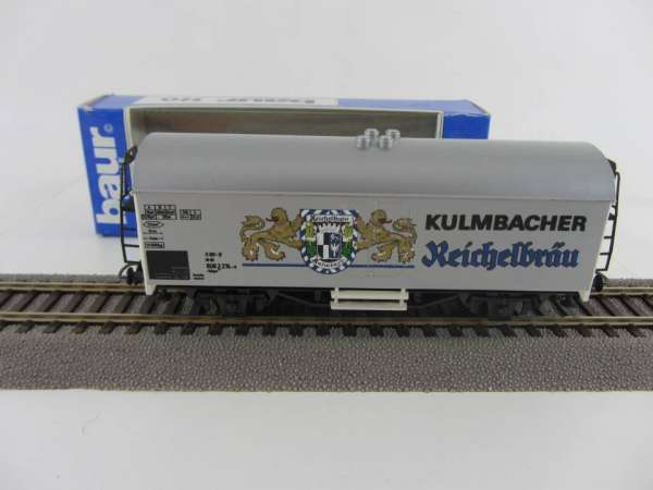 Baur Nr. 106 HO Bierwagen Kulmbacher Reichelbräu silberngrundig, sehr gut mit Originalverpackung