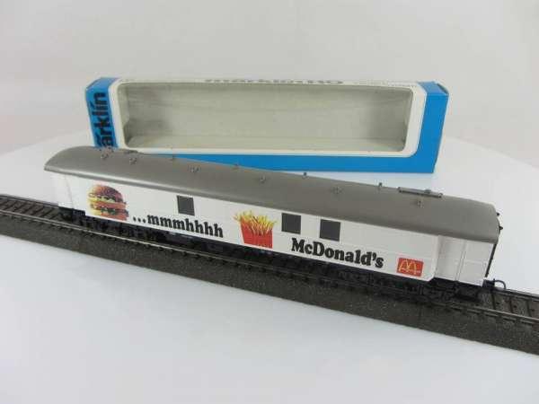 Märklin 84121 Ausstellungswagen Mc Donald's Neu und mit Originalverpackung