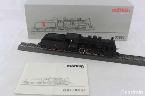 Märklin 37557 Dampflokomotive Br 55, Gr. 460 der FS Italien, Digital mit OVP