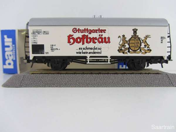 Baur Nr. 102 HO Bierwagen Stuttgarter Hofbräu weiß Neu mit Originalverpackung