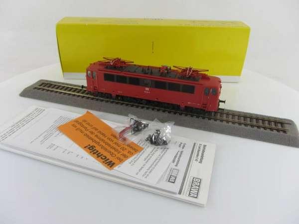 BRAWA 43005 Elekrolokomotive Br 142 124-7 der DB rot, Digital sehr guter Zustand mit OVP