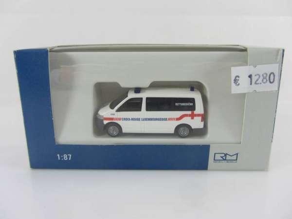 Rietze 1:87 51680 VW T5 KR rotes Kreuz Luxembourg, neu mit OVP