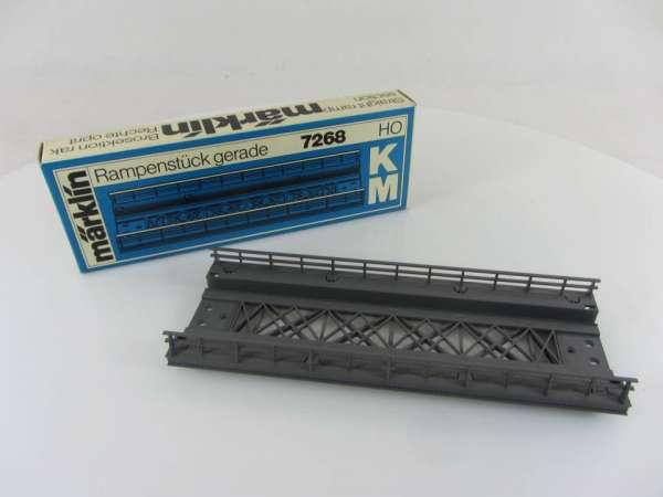 Märklin 7268 Rampenstück gerade für K- und M-Gleis, sehr guter Zustand
