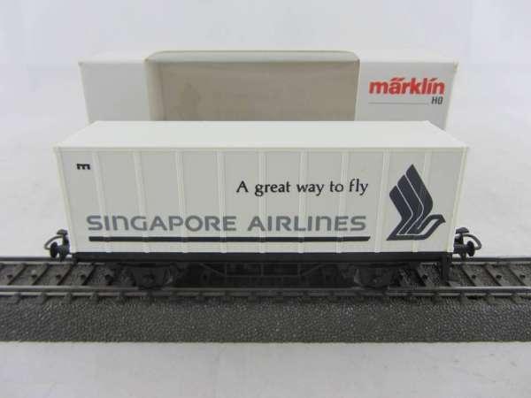 Märklin Basis 4481 Containerwagen Singapore Airlines Neu und mit Verpackung
