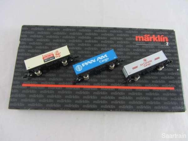 Märklin 8615 Werbewagen Set Airlines 4: PAN AM Cargo Emirates Air Canada Cargo