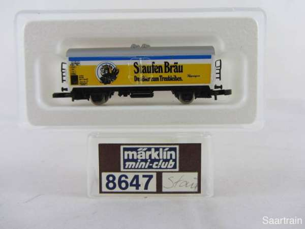 Märklin 8647 Bierwagen Staufenbräu Göppingen sehr guter Zustand mit Verpackung