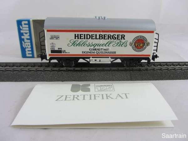 Märklin Basis 4415 Bierwagen Heidelberger Schlossquell Neuwertig mit Verpackung
