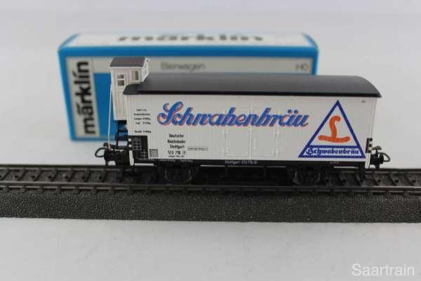 Märklin 4680 Bierwagen G10 Schwabenbräu Stuttgart, neuwertiger Zustand und mit OVP