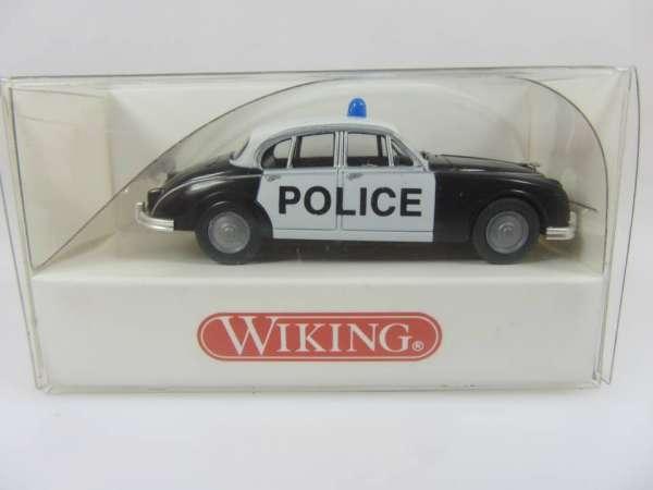 Wiking 8640329 HO 1:87 Jaguar MK II Polizei, neu und mit OVP
