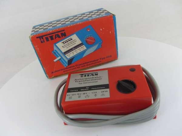 TITAN 103 Transformator 24 VA 230/ 9-12-15-18 Volt gebraucht für Autorennbahn