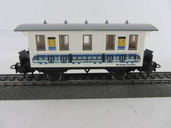 Basis 4107 Personenwagen SAARBAHN, Sondermodell, neuwertig mit Verpackung