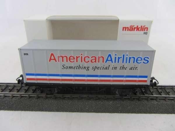 Märklin Basis 4481 Containerwagen American Airlines Neu und mit Verpackung
