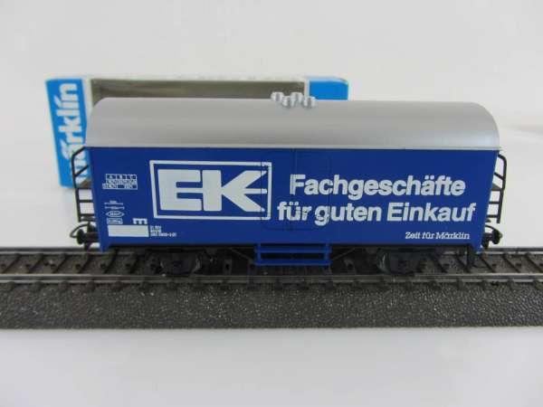 Märklin Basis 4415 Werbewagen EK Fachgeschäfte blau, neuwertig und mit OVP