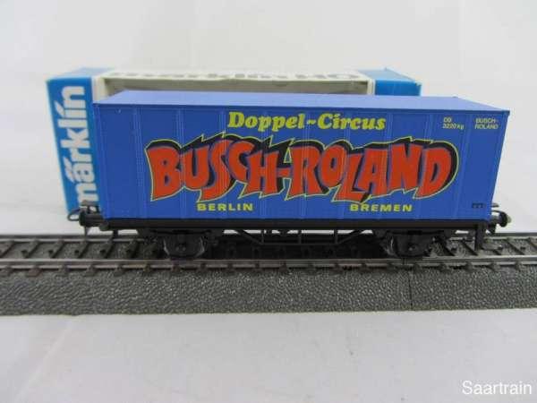 Märklin Basis 4481 Containerwagen Doppel Circus Busch Roland neu und mit OVP
