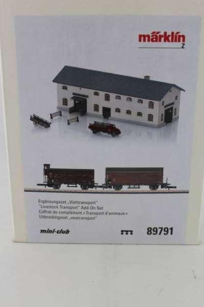 Märklin 89791 Ergänzungsset Viehtransport der DB mit 2 Güterwagen neu und mit OVP