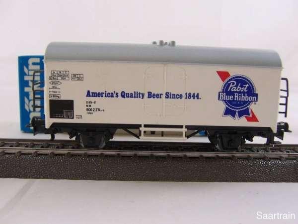 Märklin 4569 Bierwagen Pabst Blue Ribbon Bier neuwertig und mit Originalverp.
