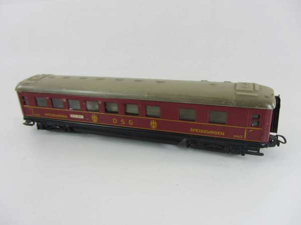 Märklin 346/2 Schürzenwagen aus Blech, DSG Speisewagen rot (II), für Bastler