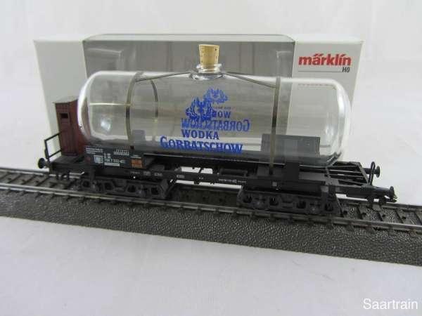 Märklin 44530 Glaskesselwagen Wodka Gorbatschow Sondermodell neuwertig mit OVP