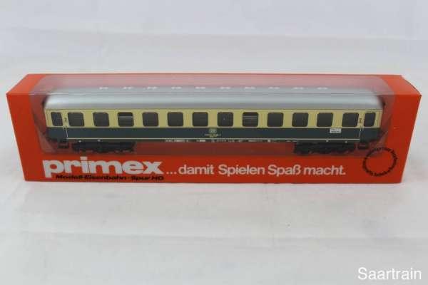 Primex 4198 Blech D-Zug-Wagen blau-beige (ungeöffnet) neuwertiger Zustand mit OVP