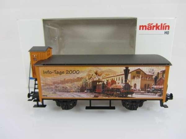Märklin Basis 4680 Info Tage Wagen 2000 Sondermodell G10 mit Bremserhaus m. OVP