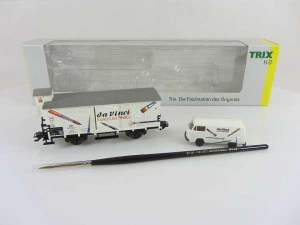 Trix 24713 Museumswagen 2013 da Vinci Güterwagen DB mit VW-Bus und OVP