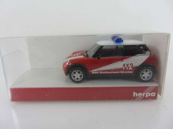 HERPA 48132 1:87 Mini Cooper Feuerwehr neu mit OVP