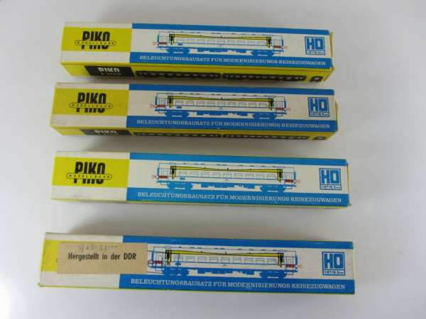 Piko Innenbeleuchtung für D-Zug-Wagen, 4 Stück, neuwertig und originalverpackt