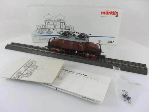 Märklin 3447 Baureihe EG2 20222 in braun, sehr guter Zustand und mit OVP