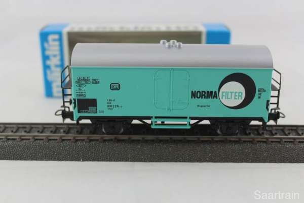 Märklin Basis 4415 Werbewagen Norma Filter Sondermodell, neu und mit OVP