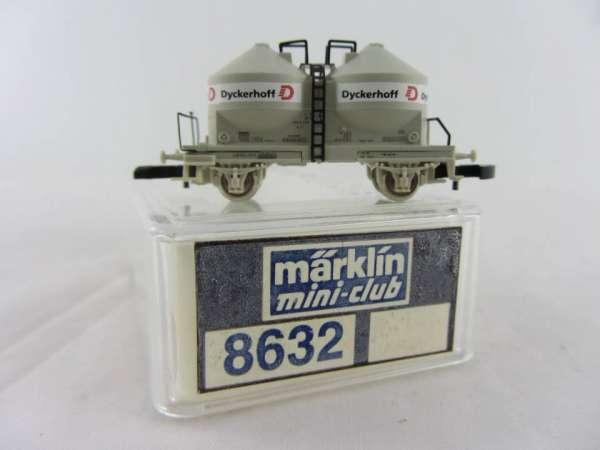 Märklin 8632 Silowagen 2 achsig Dyckerhoff, sehr guter Zustand mit Verpackung