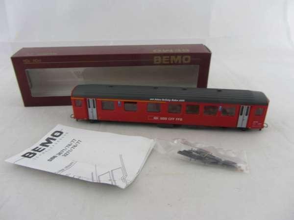 Bemo 3277 428 Personenwagen BRÜNIG-Bahn, 1./2. Klasse der SBB rot, Neu-Zustand mit OVP