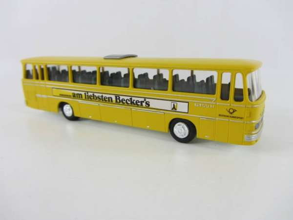 Industriedruck 1:87 Setra 150 Bus gelb Becker Bier