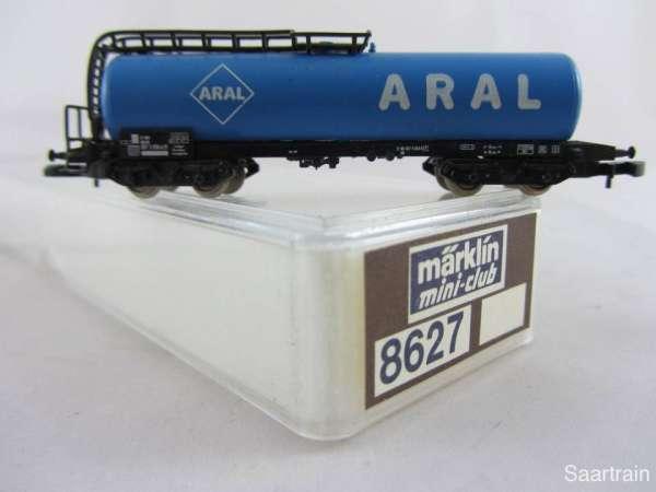 Märklin 8627 Kesselwagen ARAL blau 4 achsig sehr guter Zustand m. Verpackung