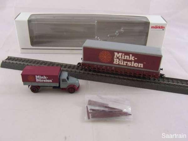 Märklin Museumswagen 2012 Mink Bürsten mit LKW und Originalverpackung
