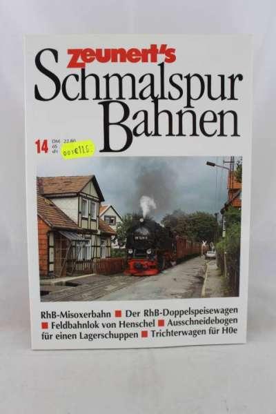 """Eisenbahnbuch """"Zeunert`s Schmalspur Bahnen"""" Band 14"""
