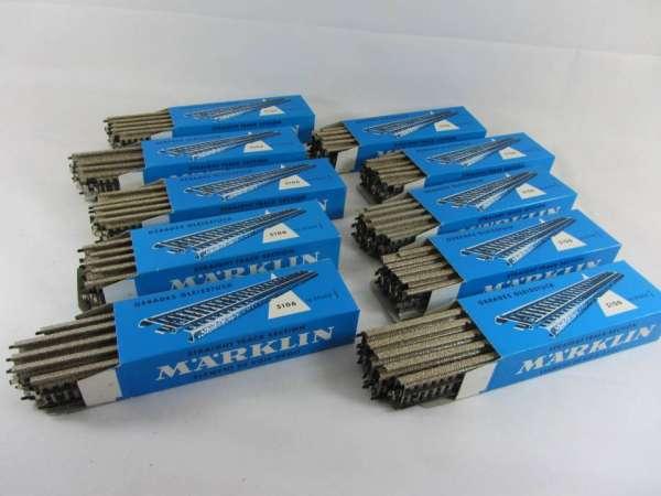 Märklin 5106 100 Stück gerades M-Gleis, gebraucht, sehr guter Zustand, mit dunkelblauer OVP