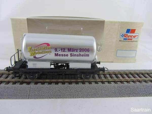 Basis ROCO Kesselwagen silbern mit Beschriftung Sinsheim 2004 mit Verpackung