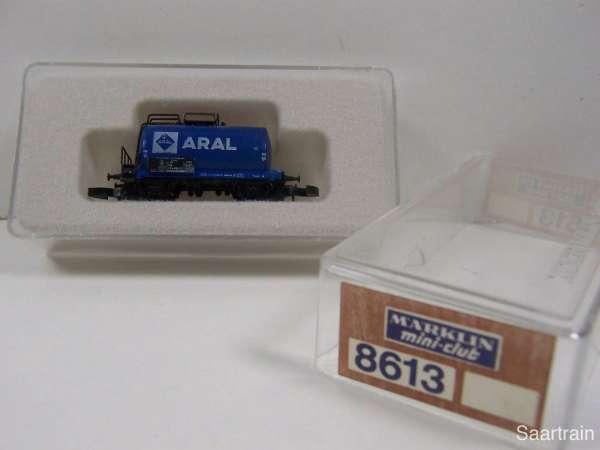 Märklin 8613 Kesselwagen ARAL 2 achsig kleines altes Emblem selten mit OVP