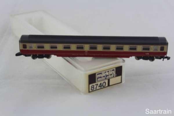 Märklin 8740 Eurofimawagen der DB rot-beige 1.Klasse neuwertig mit Originalverpackung