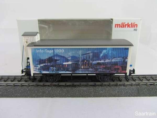 Märklin Basis 4680 Info Tage Wagen 1999 Sondermodell G10 mit Bremserhaus m. OVP