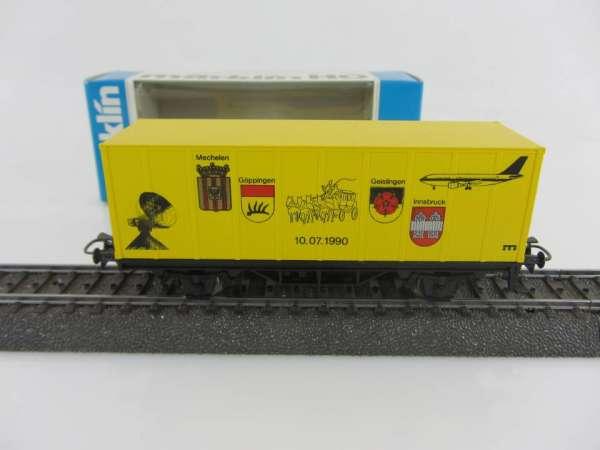 Märklin Basis 4481 Containerwagen Post Göppingen neuwertig und mit OVP