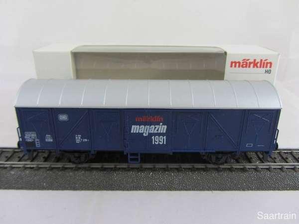 Märklin Magazin Wagen 1991 Gedeckter Güterwagen 84627 guter Zustand und mit OVP