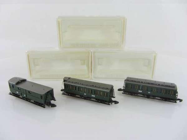 Märklin 8703,8704 und 8705 Personenwagen-Set Abteilwagen (I) neuwertig mit OVP