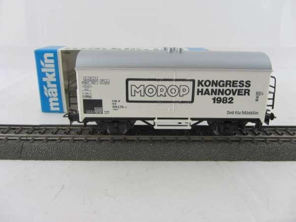 Märklin Basis 4415 Werbewagen MOROP Kongress Hannover 1982 Sondermodell, neu und mit OVP
